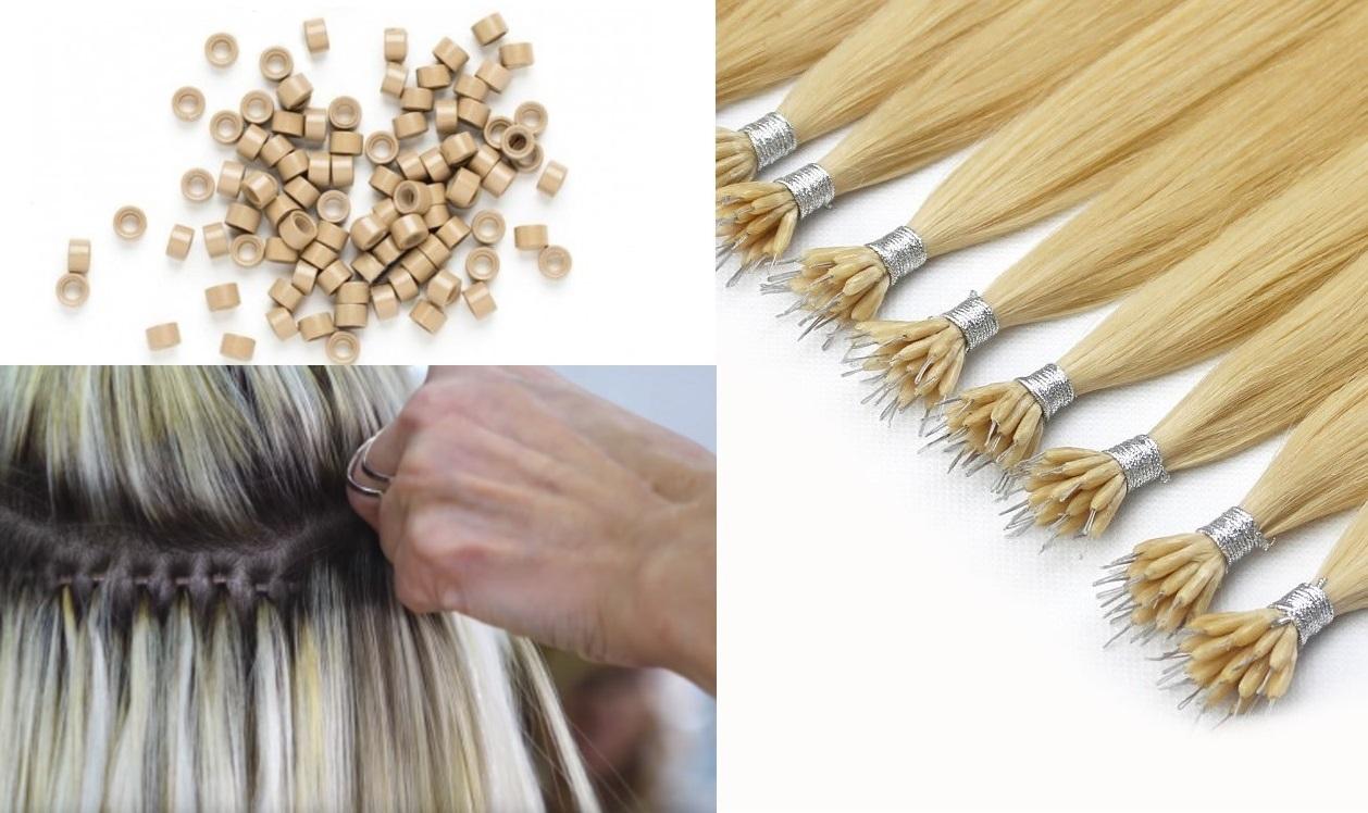 Nano/mikrogyűrűs hajhosszabbítás